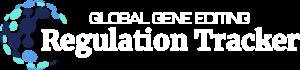 global gene editing regulation tracker darker outlined logo