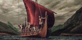 viking ship sailing