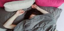 woman sleeping asleep alone bed x facebook