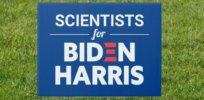 scientists for biden harris custom text blue sign rcacd ebc e b da a e d tyqv