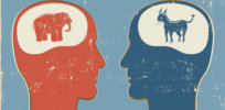 Republican vs Democrat brains: Either ideology shapes the brain or brain structure drives our political views