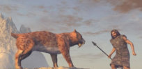 How did humans transition from saber-tooth tiger prey to masters of the planet?