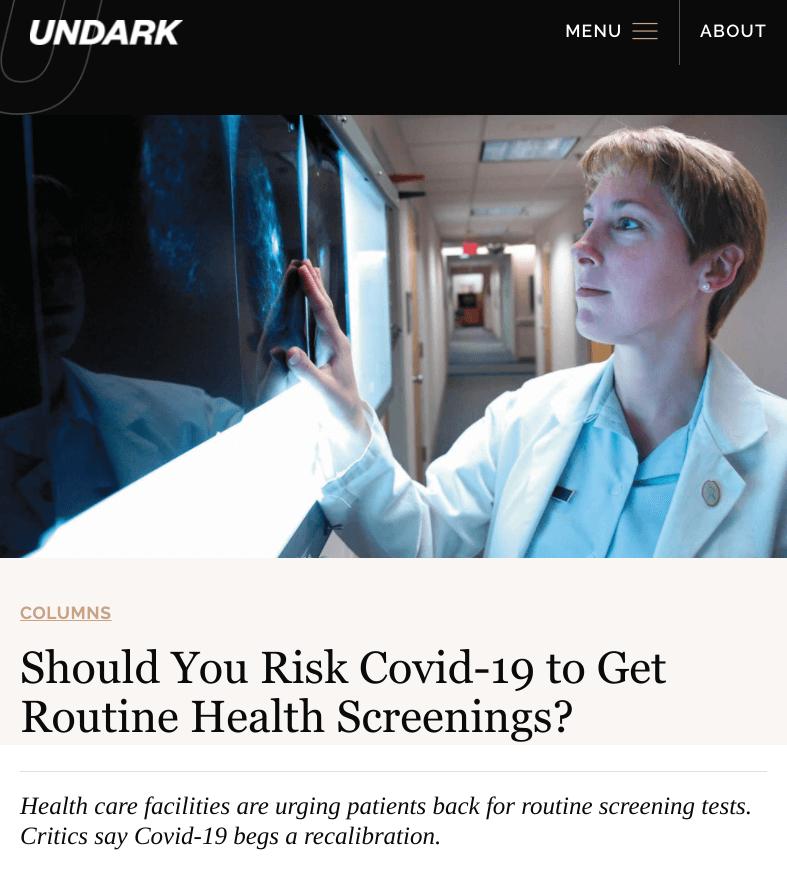 screencapture undark org risk covid routine screenings