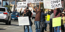 Is a new California law limiting protests at COVID vaccine centers constitutional?