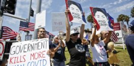Anti-mask and vaccine rejectionist protests increasingly turn violent