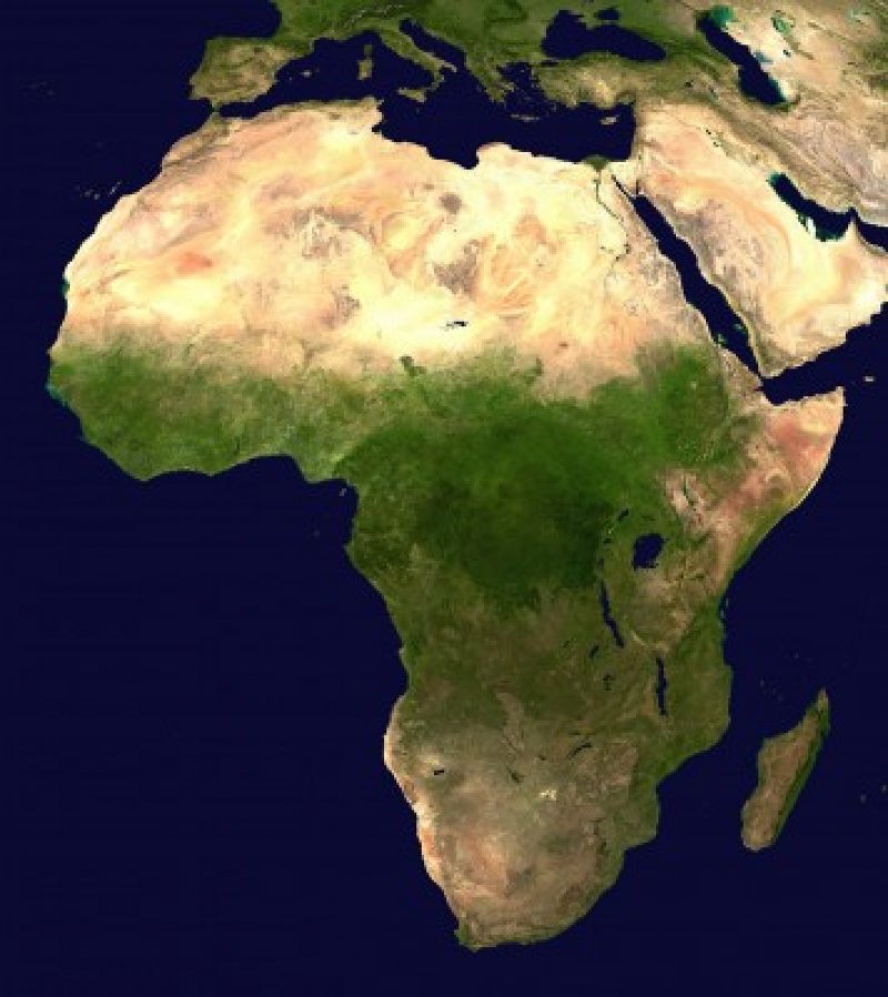 a Africa satellite orthographic x