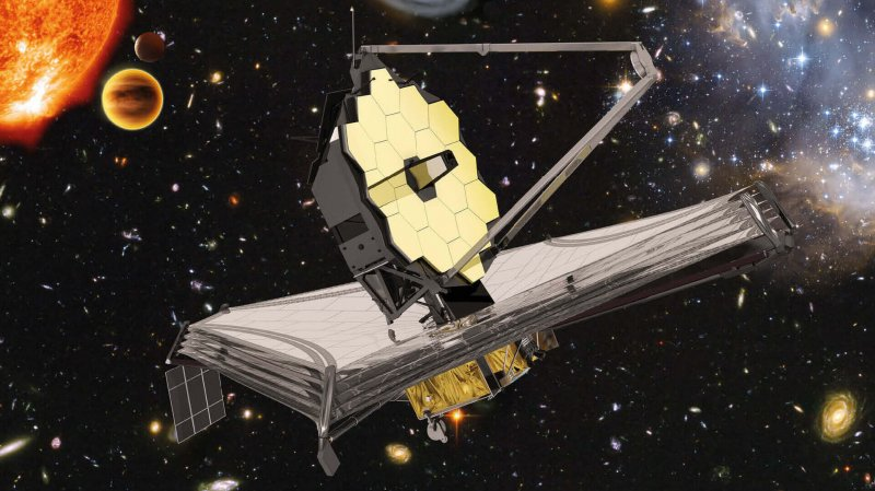 Artist's rendition of the James Webb Space Telescope. Credit: European Space Agency