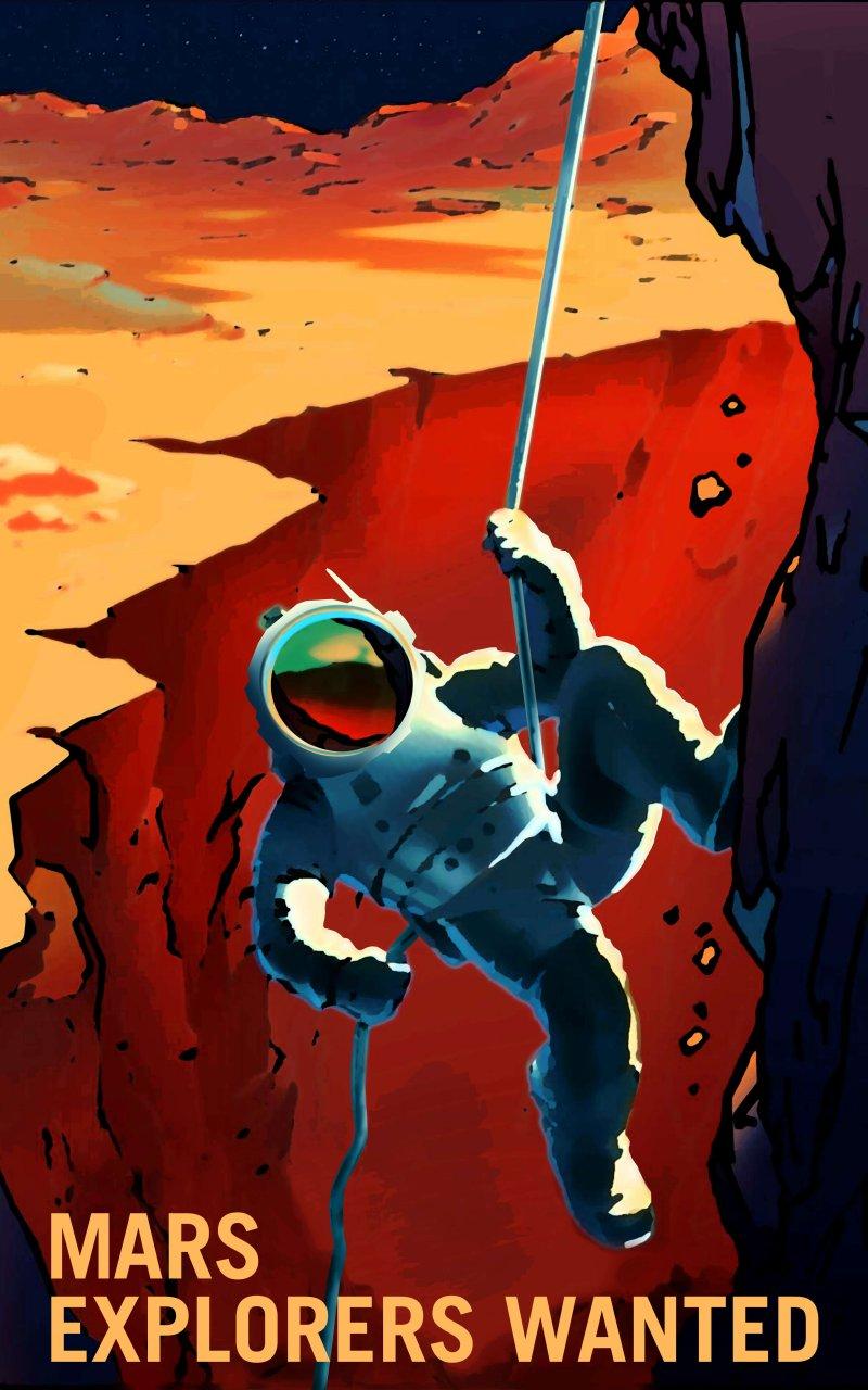 P Explorers Wanted NASA Recruitment Poster