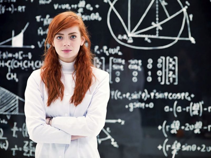 Womeninbusiness woman science stem x