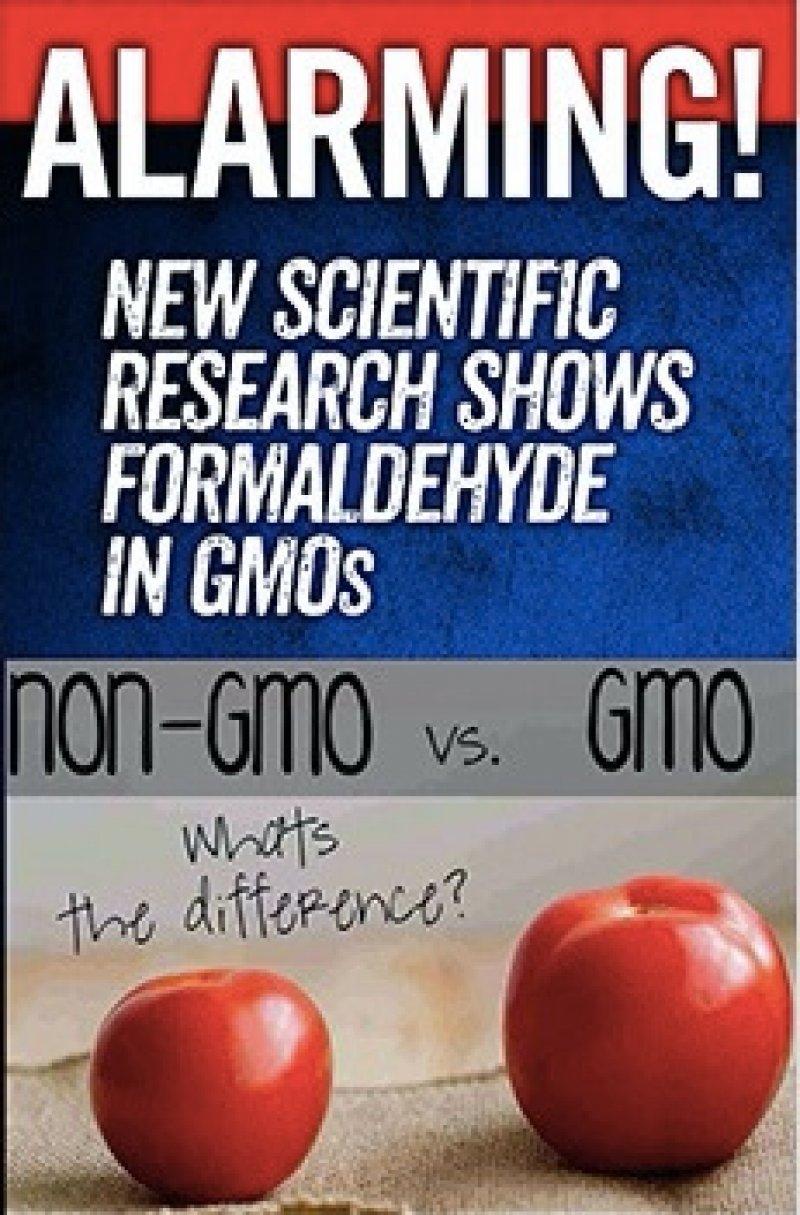 alarming new evidence GMOs Formaldehyde