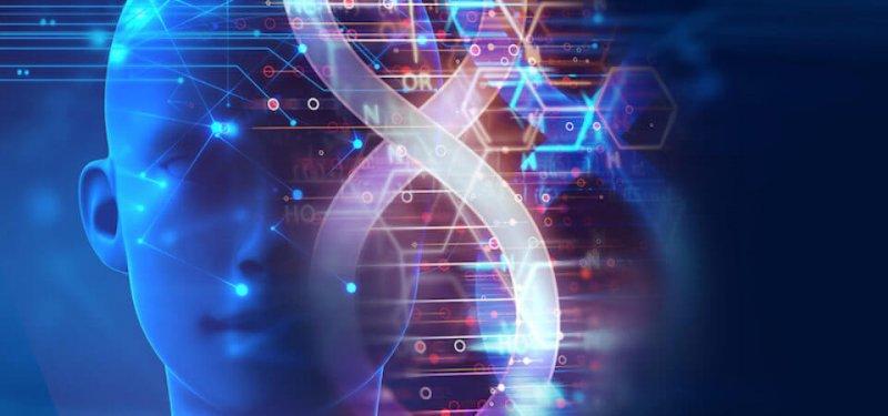 bigstock dna molecules on abstract tech x