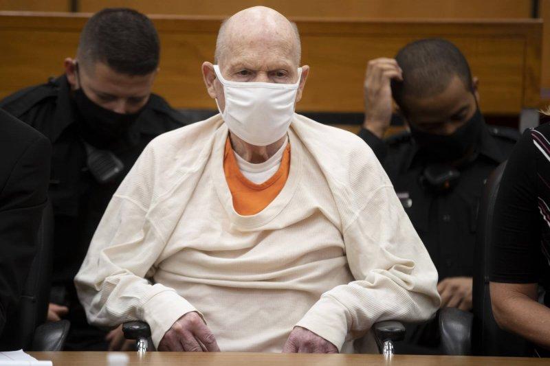 Joseph James DeAngelo Jr. listens to victim impact statements at the Gordon D. Schaber Sacramento County Courthouse. Credit: Santiago Mejia/San Francisco Chronicle