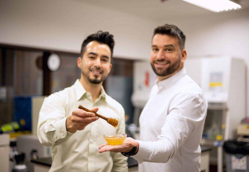 Co-founders Aaron Schaller and Darko Mandich. Credit: MeliBio