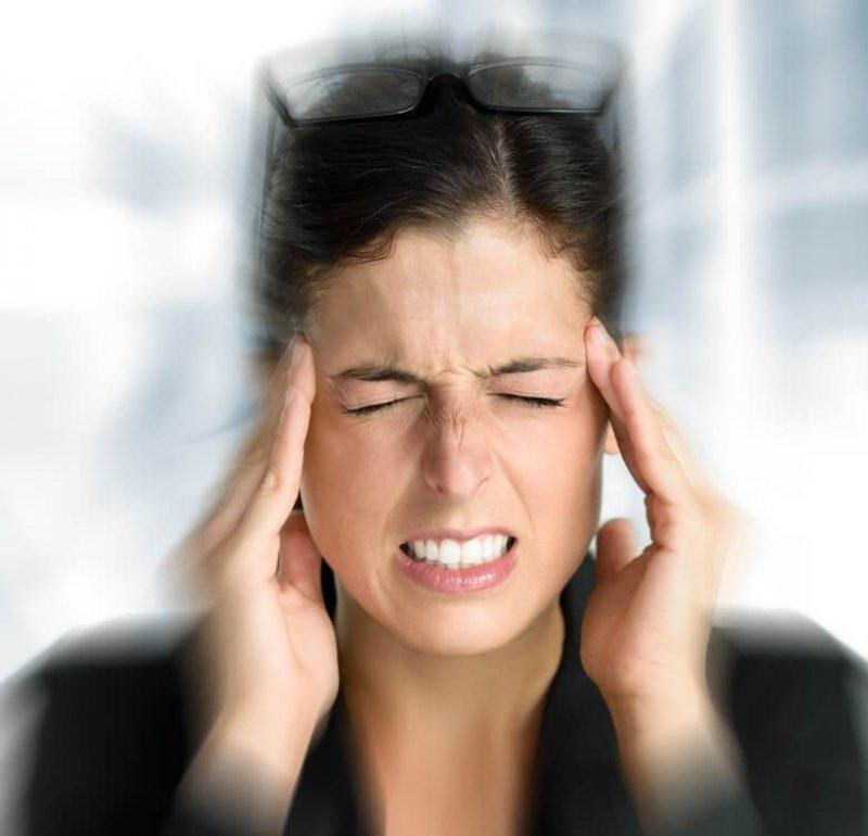 migraine sufferer photo