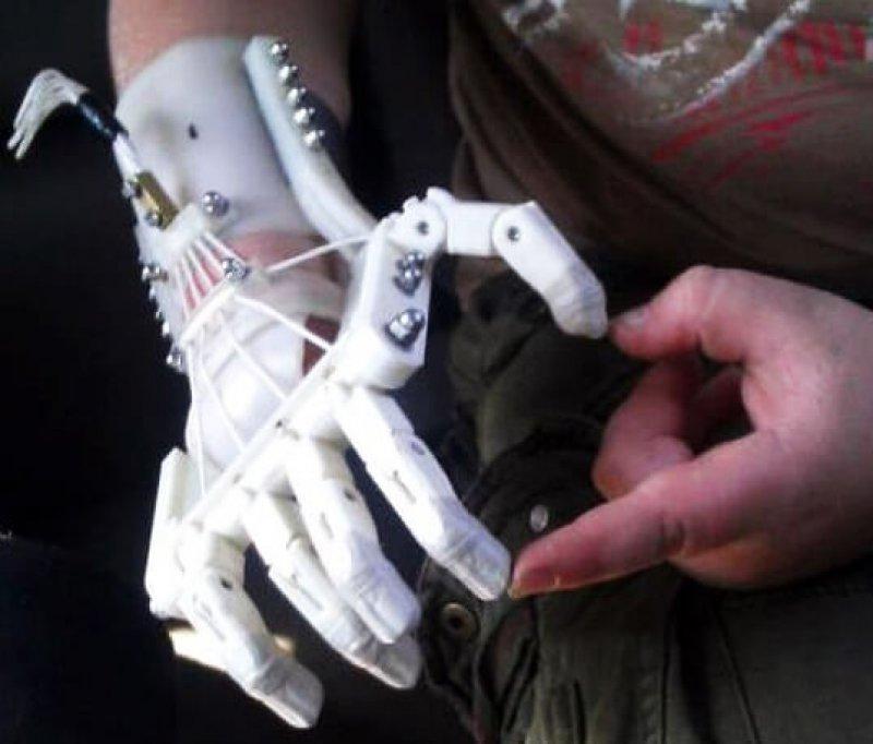 robohand d printed prosthetic hand