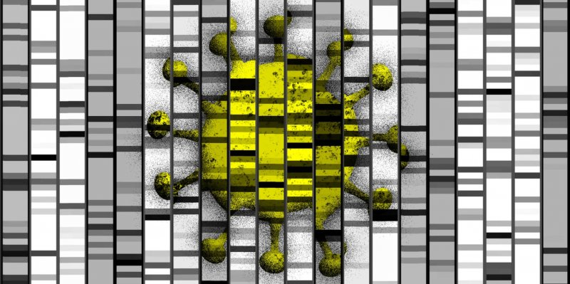 science feature art genes covid v