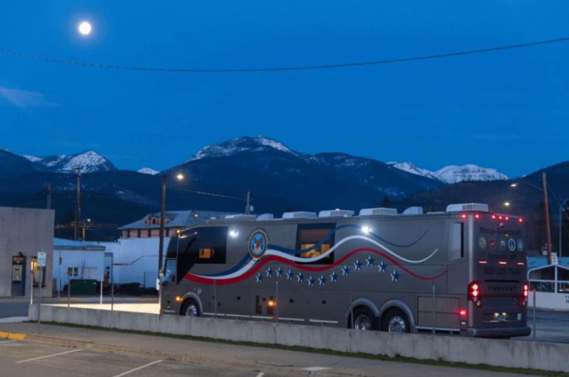 The VA mobile medical unit. Credit: Tony Bynum/Washington Post