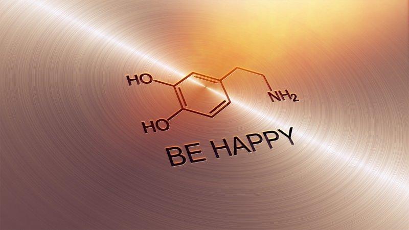 Dopamine molecule. Credit: Medium